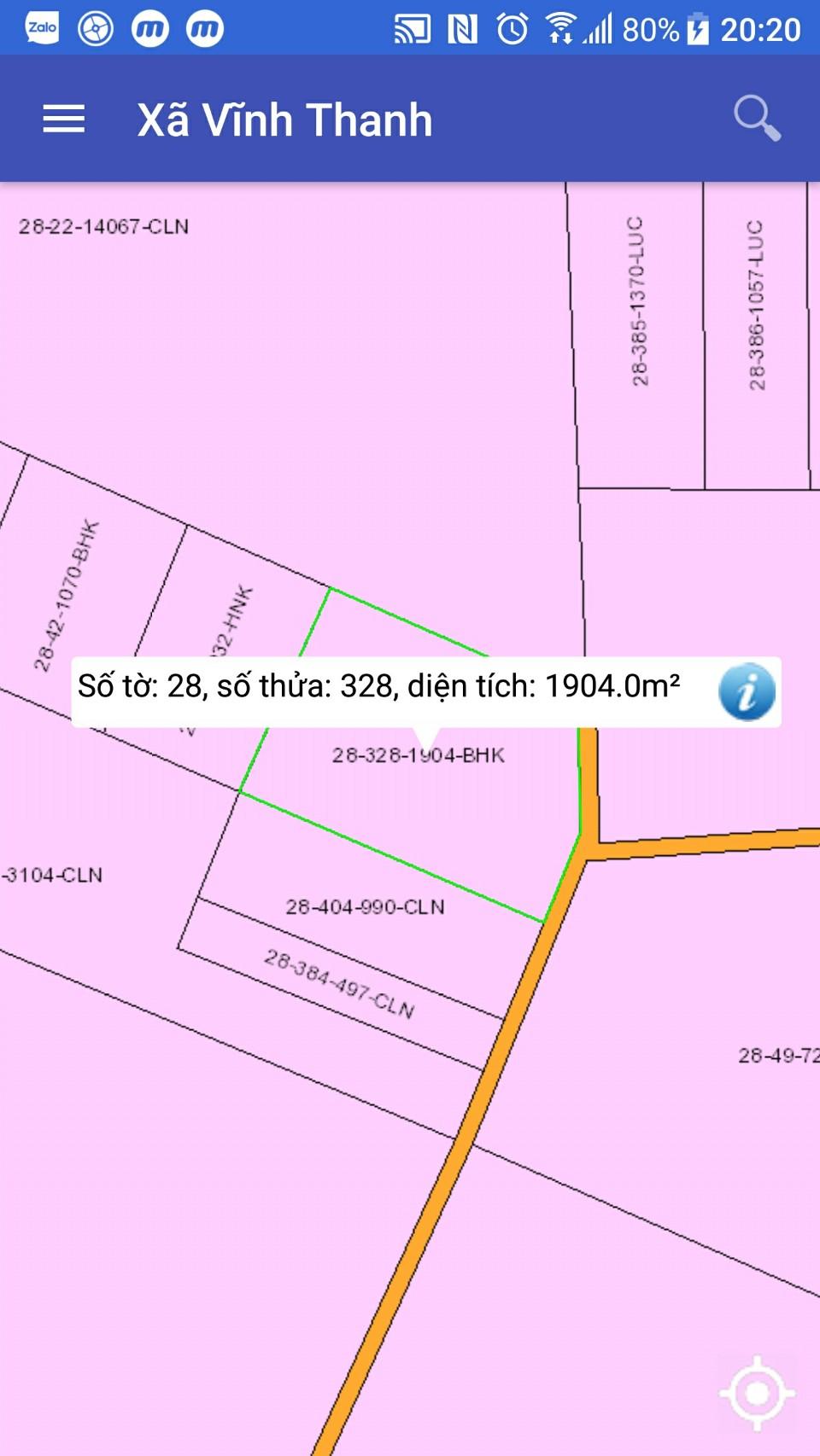 Đất cây lâu năm 1.904 m2 hẻm ô tô xã Vĩnh Thanh – Giá 2.62 triệu/m2!