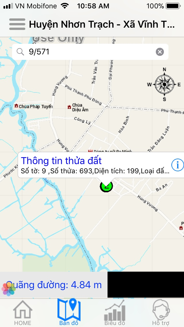 263 m2 thổ cư, 2 MT hẻm bê tông ô tô xã Vĩnh Thanh – Giá: 3.7 tỷ