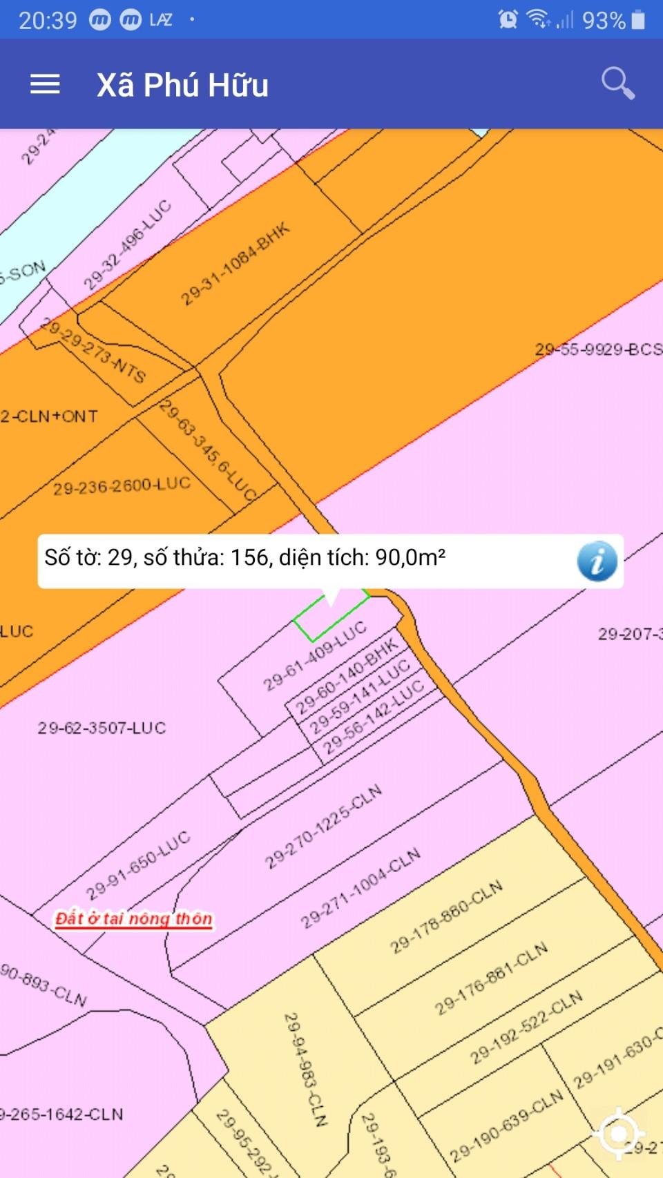 Nhà 90 m2 cấp 4 xã Phú Hữu giá 1.63 tỷ!