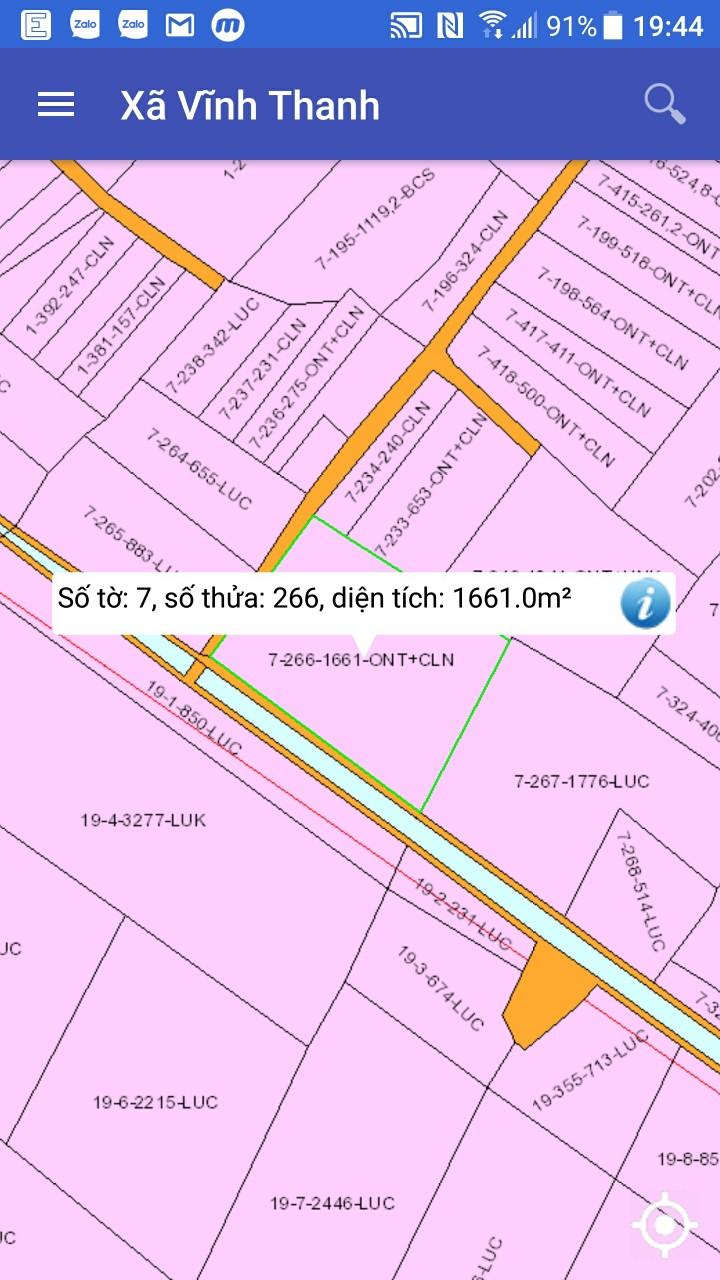 Bán 33.5 x 44.5 hai MT hẻm ô tô xã Vĩnh Thanh – Giá 12.62 tỷ!
