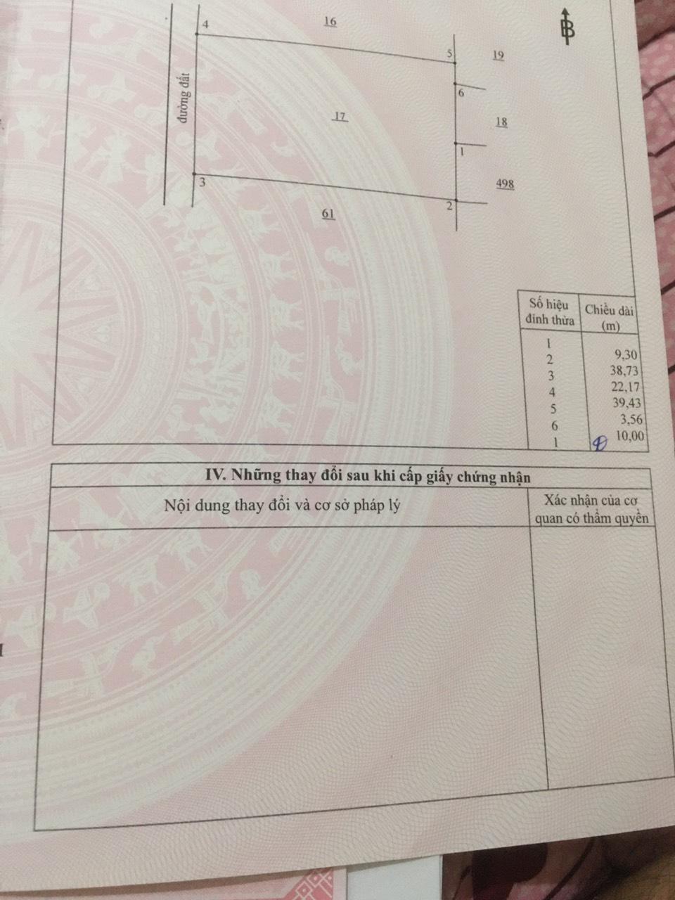 Bán 22.1 x 39.5 hẻm ô tô 1 sẹc xã Vĩnh Thanh – Giá 10.56 tỷ!