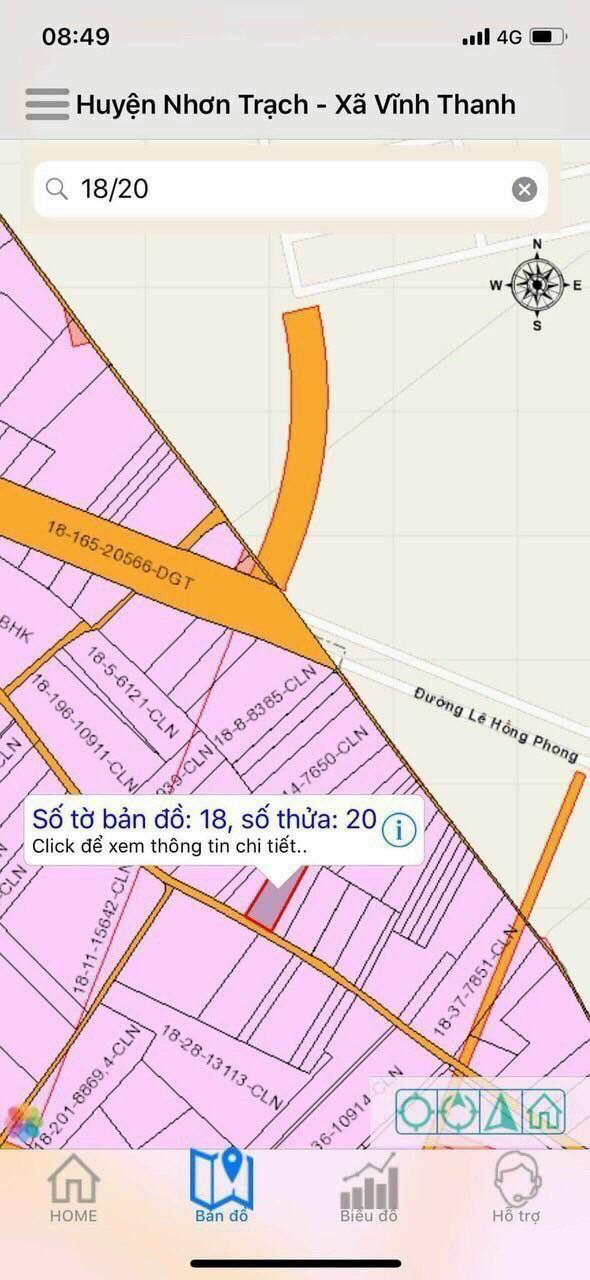 Bán 2.204 m2 đất CLN hẻm ôt ô xã Vĩnh Thanh – Giá: 2 triệu/m2