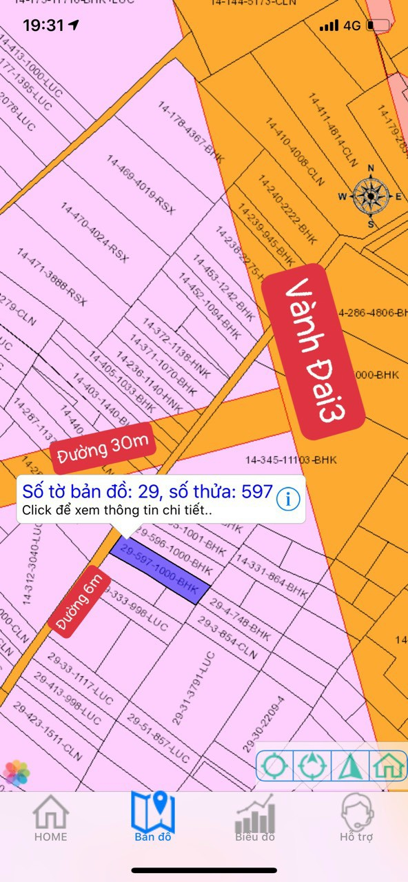 1.000 m2 sát đường Vành đai 3 xã Vĩnh Thanh – Giá 3.35 triệu/m2